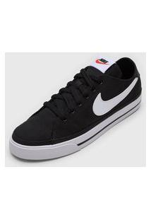 Tênis Nike Sportswear Court Legacy Cnvs Preto
