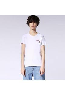 Camiseta Diesel T-Sily-F Feminina - Feminino-Branco