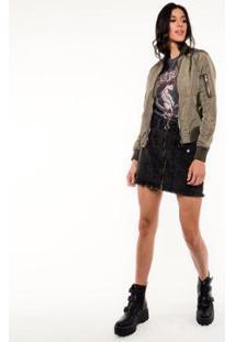 Jaqueta Pop Me Nylon Bomber Feminina - Feminino-Verde Militar