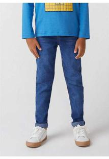 Calça Jeans Infantil Menino Straight Fit Azul