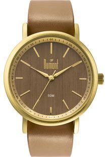Relógio Analógico Dumont Feminino - Du2035Moa/4M Marrom