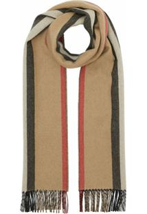 Burberry Cachecol Dupla Face Com Icon Stripe - Neutro