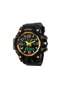 Relógio Digital E Analógico S-Shock Skmei 1155 - Amarelo