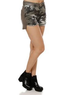 Short Jeans Feminino Zune Verde