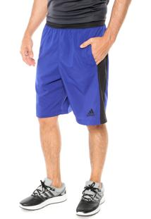 Short Adidas Performance D2M Wvn Azul