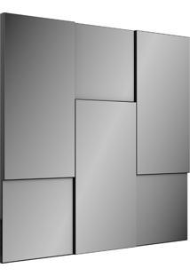 Painel Decorativo Escala Espelhado Preto Brilho Dalla Costa