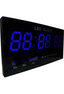 46c81a7b406 Relogio De Parede Com Led Azul Digital Som Data Temperatura (Rel-61)