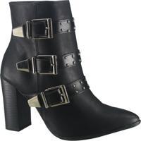 32fe6a6eed Ankle Boot Fivela Via Marte feminina
