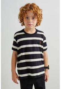 Camiseta Infantil Pf Reserva Ft Linho Joa Masculina - Masculino-Preto