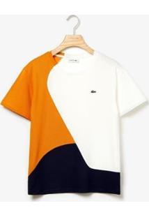 Camiseta Lacoste Live Feminina - Feminino-Marinho+Branco