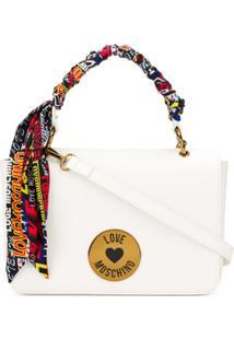 Love Moschino Bolsa Com Aplicação De Logo E Lenço - Branco