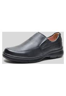 Sapato Conforto Ded Calçados Sem Cadarço Preto