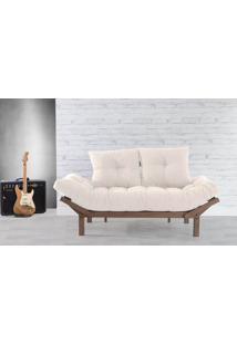 Sofá Cama Futon Country Comfort Off White 190X80X83 Cm - Acabamento Nogueira Tec.924-023