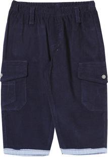 Calça Look Jeans Veludo Collor Azul