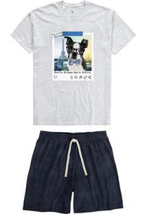 Pijama Mescla Masculino Adulto