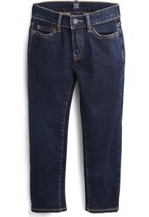 Calça Jeans Gap Menino Lisa Azul-Marinho