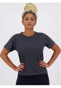 Camiseta Olympikus Basic Style Feminina - Feminino-Cinza