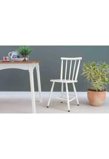 Cadeira Para Cozinha Mimo Laqueada Branca 44X41,5X81Cm