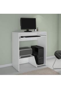 Mesa Para Computador Com Suporte Para Teclado Iris Jcm Móveis Branco