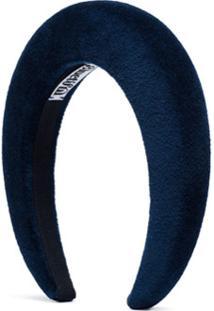 Bluetiful Milano Headband De Veludo Matelassê - Azul