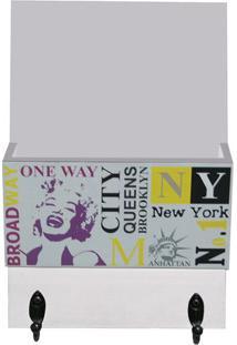 """Organizador Porta Correspondãªncias """"New York""""- Branco & Kapos"""