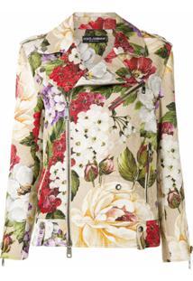 Dolce & Gabbana Jaqueta Biker Com Estampa Floral - Estampado