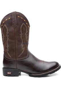 Bota Texana Craz Horse - Masculino-Marrom