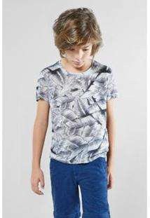 Camiseta Infantil Bananal Mono Reserva Mini Masculina - Masculino-Cinza