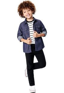 Camisa Jeans Menino Malwee Kids