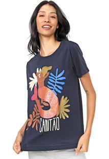 Camiseta Cantão Canto Azul-Marinho