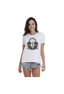 Camiseta Jay Jay Basica Sun Branca Dtg
