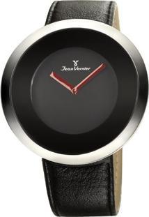 Relógio Analógico Jv02028- Prateado & Preto- Jean Vejean Vernier