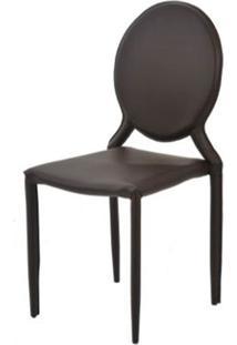 Cadeira Amanda Medalhao 6606 Em Metal Pvc Marrom - 32675 - Sun House