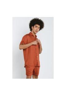 Camisa Social Soft Laranja