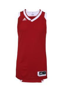 Camiseta Regata Adidas Teamstock - Masculina - Vermelho Branco 0535ee4e2cfef