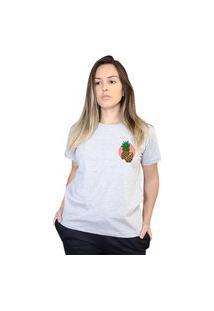 Camiseta Boutique Judith Pineapple Cinza