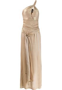 Just Cavalli Long Lurex Ring Dress - Metálico