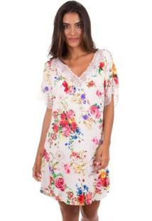 Kaftan Com Renda Inspirate - Feminino-Off White
