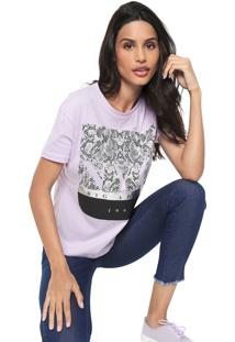 Camiseta Fiveblu Nyc Lilás