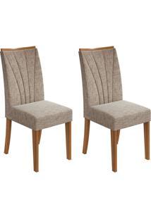 Conjunto Com 2 Cadeiras Apogeu Ll Rovere E Bege