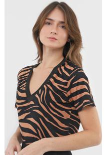 Camiseta Mob Animal Print Preta
