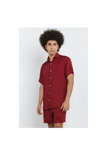 Camisa Casual Soft Bordô