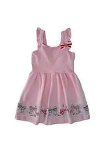 Vestido Rosa Cotton Relevo