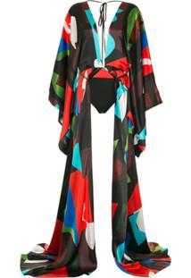 Solace London Body Estilo Kimono - Preto