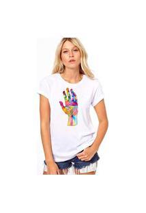 Camiseta Coolest Color Hand Branco