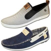 b4ed9bb780 Mocassim Para Meninos Azul Cinza infantil | Shoes4you