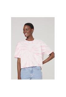 Camiseta Feminina Curta Tie Dye