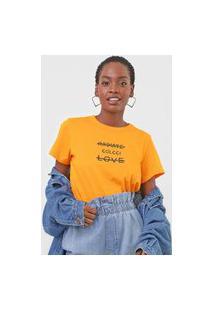Camiseta Colcci Radiate Love Laranja