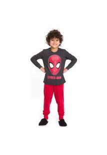 Pijama Infantil Inverno Spider Man Vingadores Evanilda