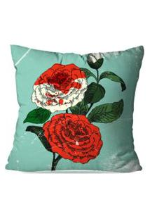 Capa De Almofada Avulsa Decorativa Pintura Rosa 45X45Cm